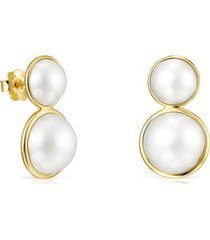 pendientes avalon de oro y perlas :918553080