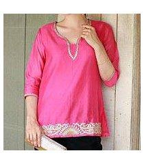 cotton and silk blend tunic. 'jaipuri masala' (india)