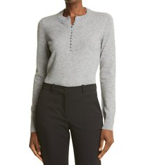 theory cashmere henley sweater, size small in husky at nordstrom