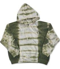 full circle trends trendy plus size tie-dyed hoodie