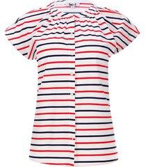 blusa raya 2 colores color azul, talla 10