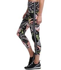 dkny sport dizzy tropics printed 7/8 length leggings
