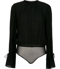 andrea marques ruched bodysuit - black
