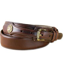 heritage leather shotshell ranger belt, brown, 40