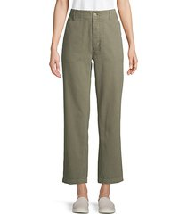 high-rise cotton military pants