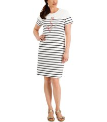 karen scott studded anchor dress, created for macy's