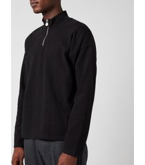 martine rose men's fortin quarter zip sweatshirt - black - xl