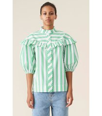 striped buttoned blouse