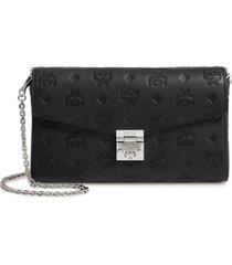 mcm millie medium calfskin leather wallet on a chain -