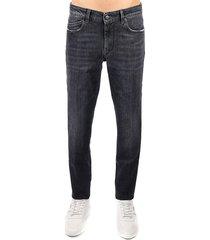 hogan hogan black slim cotton jeans