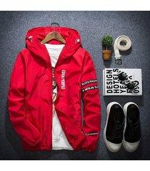 men autumn jacket outdoor sportswear hooded coat thin blazer outwear
