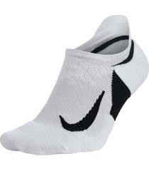 medias tobilleras nike dry elite cushioned - negro-negro-blanco