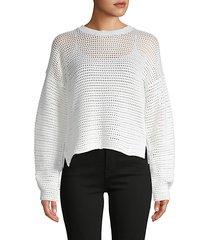 diza open-weave cotton sweater