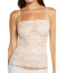 women's honeydew intimates margo lace camisole, size small - pink