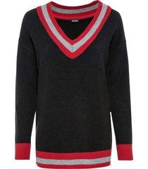 maglione con scollo a v ampio (nero) - bodyflirt