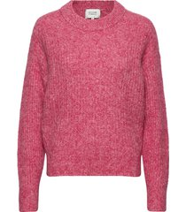 maville knit boxy o-neck gebreide trui roze second female