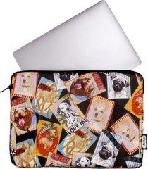 estuche laptop estampado perros citybags multicolor