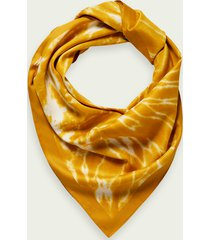 scotch & soda printed tie-dye scarf