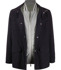 brunello cucinelli long-sleeve fitted jacket - blue