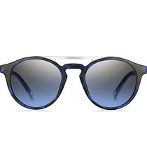 60mm round browline sunglasses