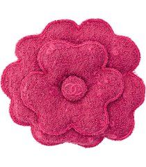 chanel pre-owned 1990's wool corsage brooch - pink