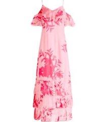 chiffon dress with frils