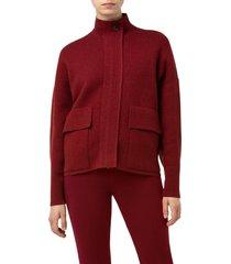 women's akirs patch pocket detail cashmere cardigan, size 6 - burgundy
