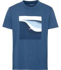 t-shirt met digitale opdruk van bio-katoen, inkt xxl