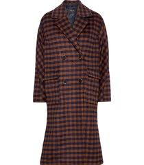 slfelement check wool coat b wollen jas lange jas multi/patroon selected femme