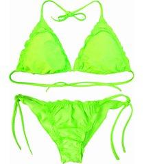biquãni cortininha divance verde neon calcinha ripple 614 - verde - feminino - poliamida - dafiti