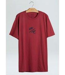 t-shirt regular color cristal onda-carmim