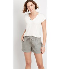 maurices womens high rise pull on weekender 4in shorts gray