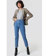 trendyol high mom jeans - blue