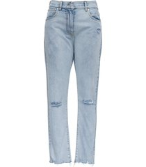 msgm destroyed jeans with tear detail