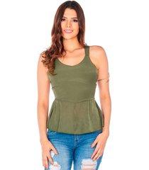 blusa verde militar