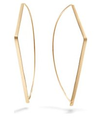 women's lana jewelry angled upside down hoop earrings
