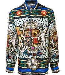 dolce & gabbana camisa de pijama com estampa royal king - estampado