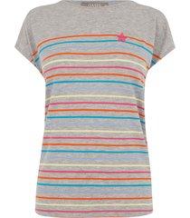 snoepkleurig gestreept t-shirt