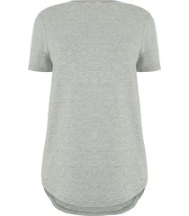 t-shirt met langer achterpand