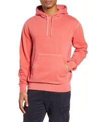 men's officine generale oliver pigment dyed hooded sweatshirt