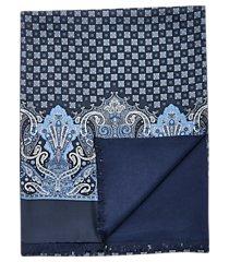 jos. a. bank paisley & check silk scarf