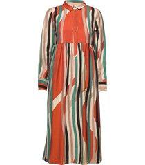 dress long sleeve knälång klänning multi/mönstrad noa noa