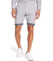 "brooklyn brigade men's standard-fit 9"" roxburgh flat front shorts"