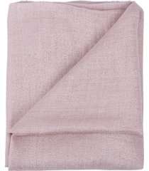 pastel pink cashmere silk and lurex scarf