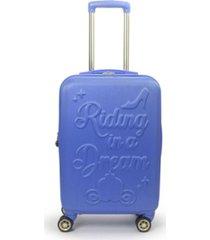 "ful disney princess cinderella hard-sided 21"" carry-on luggage"