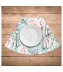 jogo americano para mesa redonda wevans flowers premium kit com 4 pçs