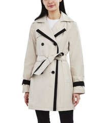 laundry by shelli segal color-blocked belted trench coat