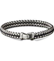 woven box chain bracelet