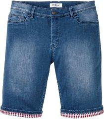 mjuka jeansbermudas, normal passform
