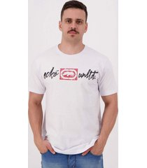 camiseta ecko come back estampada branca